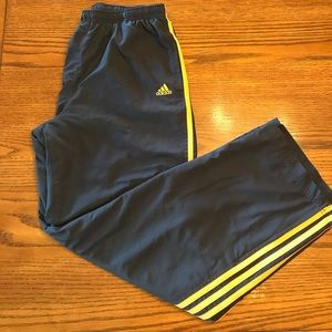 Men's adidas grey and orange sweatpants